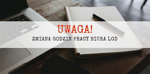 22.02.2018r. – Biuro LGD w Myślenicach czynne do godz. 13.45