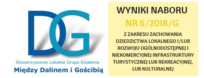 WYNIKI NABORU NR 6/2018/G- INFRASTRUKTURA TURYSTYCZNA, REKREACYJNA I EKOLOGICZNA