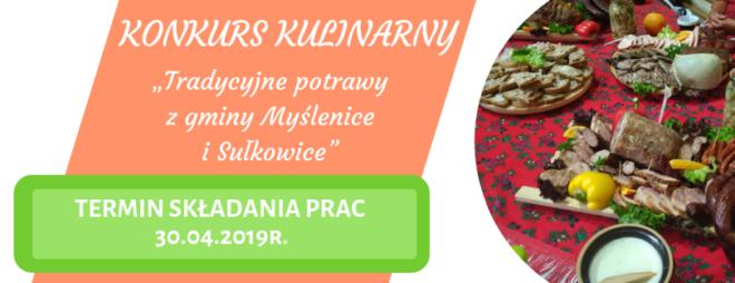 """Konkurs kulinarny """"Tradycyjne potrawy z gminy Myślenice i Sułkowice"""""""