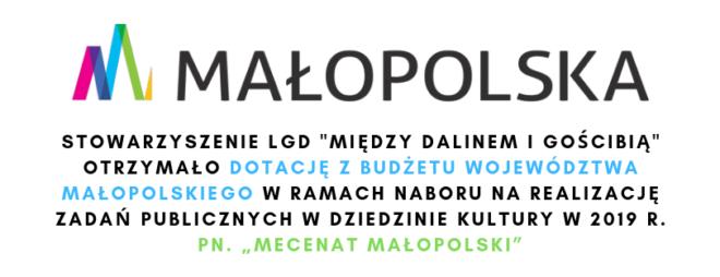 """Dotacja dla LGD """"MDiG"""" w ramach """"Mecenatu Małopolski"""""""